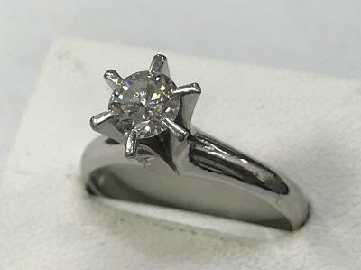 ダイヤモンド買取 プラチナ台 立爪 ダイヤモンド 0.53ct リング ダイヤモンド高く売るなら 京都MARUKA大宮店へ