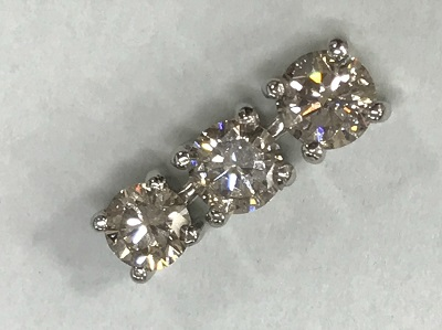 ダイヤモンド買取 トリロジー ダイヤモンド 1.00ct ペンダント PT900 ダイヤモンド高く売るなら 京都MARUKA大宮店へ