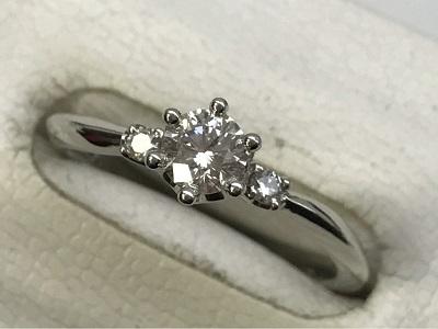 ダイヤモンド買取 ダイヤモンド リング PT950 中石0.30ct 脇石0.05ct ダイヤモンド高く売るなら 京都MARUKA大宮店へ