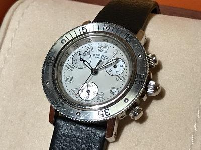 エルメス買取 クリッパー ダイバークロノ CL2.310 時計買取 社外ベルト 渋谷 恵比寿