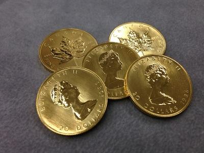 メイプルリーフ金貨買取 1/2oz 5枚(15.5g × 5)大阪で金買取はMARUKA心斎橋店以外ないでしょ?