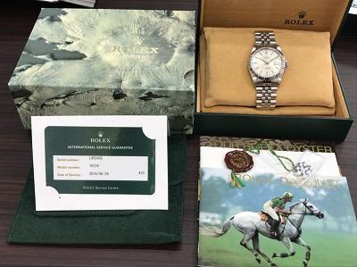 ロレックス買取 デイトジャスト Ref.16234 L番 箱 コマ付 ロレックス高く売るなら 京都MARUKA大宮店へ