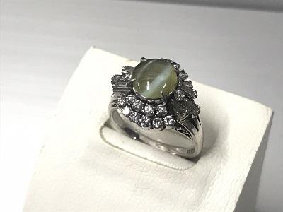 プラチナ リング 買取 キャッツアイ ダイヤモンド PT900 指輪 買取 渋谷 マルカ
