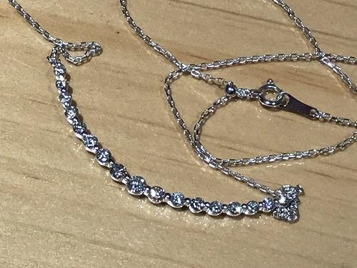 ダイヤモンド ネックレス 宝石 K18WG 1.00ct ジュエリー