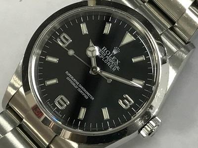 ロレックス買取 エクスプラーラーⅠ Ref.114270 Y番 本体のみ ロレックス高く売るなら MARUKA四条大宮店へ