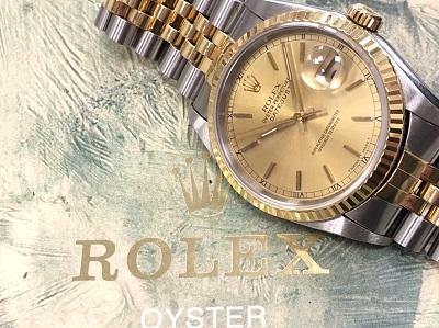 ブランド買取 時計買取 ロレックス買取 デイトジャスト 16233 コンビ 高価買取ならマルカ 京都 四条 河原町 マルイ
