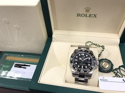 ロレックス GMTマスターⅡ 116710LN 中古美品 時計 買取 京都 四条 河原町 東山 祇園 マルイ店