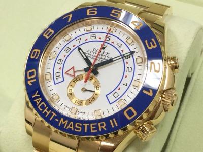 ロレックス買取 ヨットマスターⅡ 116688 高級機械式時計買取ならMARUKA大阪心斎橋店