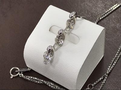 ダイヤ買取 宝石買取 ネックレス ホワイトゴールド 高価買取ならマルカ 京都 四条 河原町 マルイ