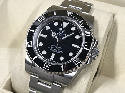 ロレックス買取 サブマリーナー ノンデイト 114060 ランダム品番 時計買取 渋谷 未使用