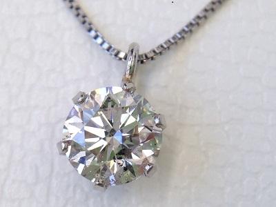 ダイヤモンド買取 プラチナペンダント 0.361ct 宝石買取はMARUKA大阪心斎橋店