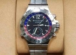 ブルガリ時計買取 ディアゴノ GMT40S 時計高く売るなら大阪MARUKA心斎橋店