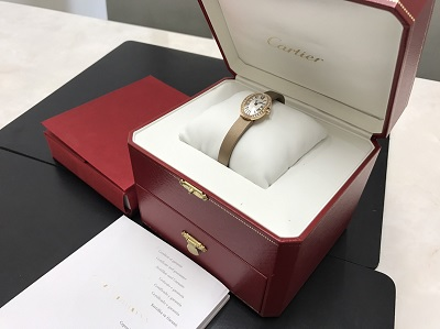 カルティエ買取 ミニベニュワール買取 750 ダイヤベゼル 腕時計 西七条 西大路駅 下京区 七条店
