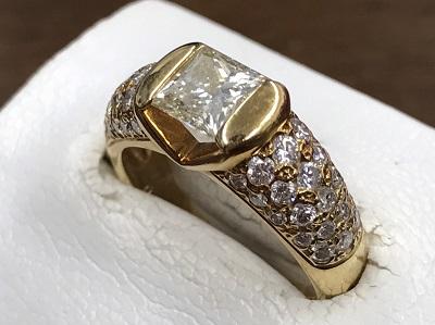ダイヤモンド買取 1.010ct メレダイヤモンド買取 プリンセスカット 宝石買取 下京区 西七条 七条店
