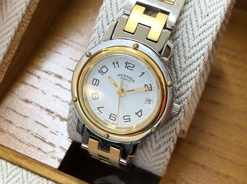 エルメス買取 腕時計 クリッパー CL3.240 SS×GP ブランド品 京都 四条河原町 祇園四条