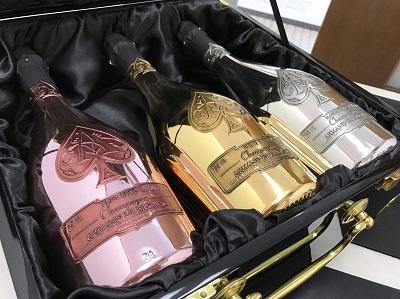 アルマンドブリニャック買取 3本セット トリロジー シャンパン買取 お酒 下京区 西七条 七条店