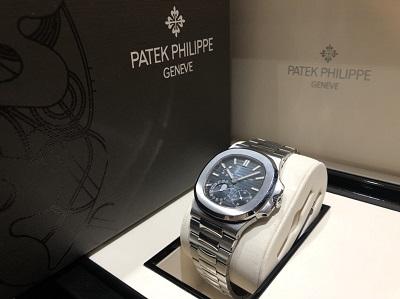 パテックフィリップ 買取 マルカ渋谷店 ノーチラス プチコン ネイビー文字盤 高級時計買取