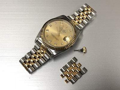 ロレックス デイトジャスト 68273G コンビ時計買取 渋谷