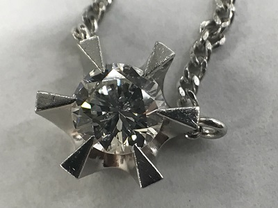 ダイヤモンド買取 プラチナ台 ラウンドブリリアントカット 0.31ct ダイヤモンド ネックレス ダイヤモンド高く売るなら MARUKA大宮店
