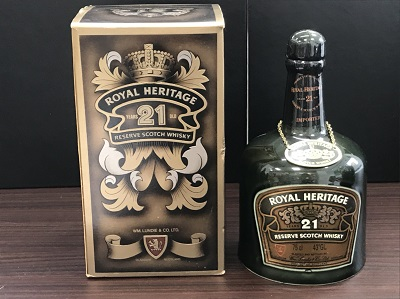 お酒買取 ロイヤルヘリテージ 21年 陶器ボトル 箱 袋付 お酒高く売るなら MARUKA大宮店へ