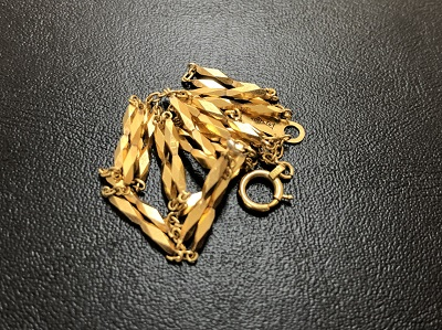 18金ネックレス1本 ノンブランド 10g K18 金 地金 貴金属 高価買取 京都 四条 河原町 マルイ店