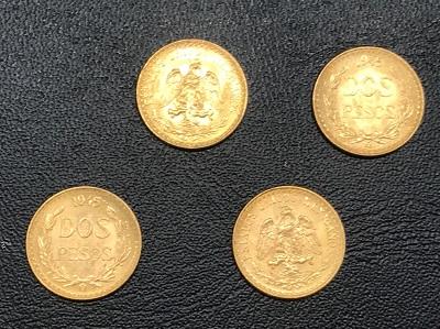 金貨買取 メキシコ2ペソ金貨 4枚 金貨高く売るなら MARUKA大宮店へ