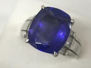 タンザナイト買取 指輪 T6.80CT D0.50CT PT900 12.6g 宝石買取ならマツモトキヨシビル6階のマルカ銀座本店まで