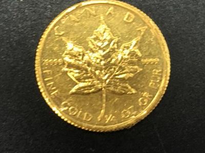 コイン買取 メイプルリーフ金貨 金 1/4OZ 金高く売るなら MARUKA大宮店へ