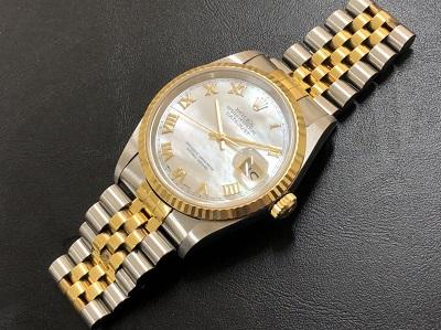 ロレックス買取 デイトジャスト メンズ 16233 シェル文字盤 時計買取 京都 四条 河原町 マルイ店