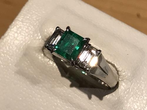 エメラルド ダイヤモンド リング 宝石 プラチナ 京都 四条 烏丸