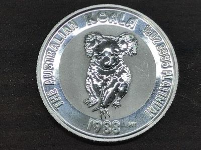 プラチナ買取 プラチナコアラコイン 1988年 1/2oz プラチナ高く売るなら MARUKA大宮店へ