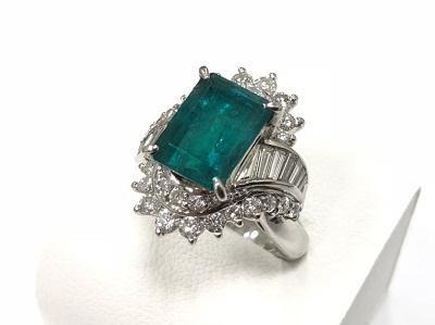 エメラルド リング 指輪 宝飾品 高価買取 マルカ 京都マルイ