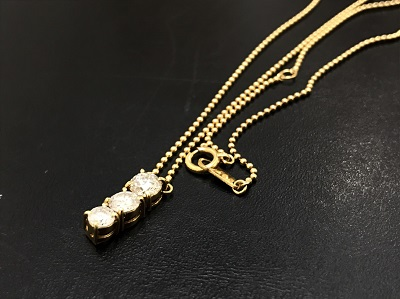ダイヤモンド買取 1.01ct ネックレス買取 K18 金 宝石 西大路 西七条 下京区 七条店