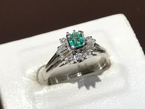 エメラルド 宝石 買取 京都 四条 烏丸 指輪 ダイヤモンド