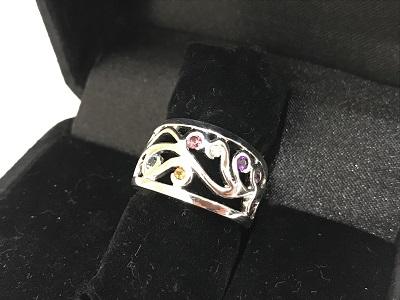 K18WG 指輪 宝石買取 ジュエリー ゴールド買取 神戸 元町 三ノ宮のMARUKA