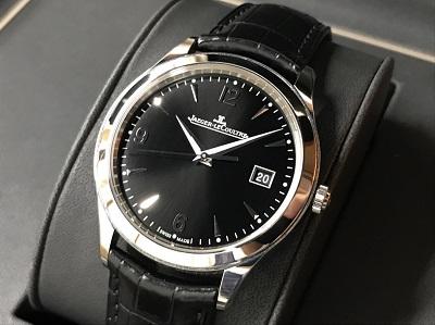ジャガールクルト買取 マスターコントロール Q1548470 SS×革 時計買取 渋谷