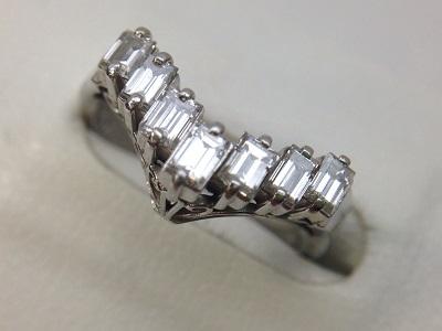 ダイヤモンドV字リング買取 0.70ct 小さなダイヤもしっかり評価 MARUKA心斎橋店