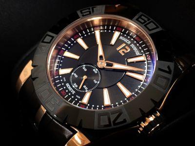 ROGER DUBUIS ロジェ・デュブイ ニューイージーダイバー 日本限定モデル Ref.DBSE0281 750RG ローズゴールド 革ベルト 腕時計 高価買取 銀座本店