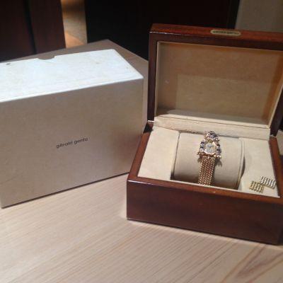 ジェラルド・ジェンタ(gerald genta) ダイヤウォッチ エメラルド サファイア 750 金 時計 宝石 渋谷 買取
