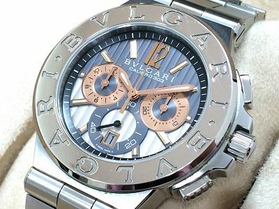 ブルガリ時計買取 ディアゴノキャリブロ303 DG42C14SWGSDCH 時計高く売るならMARUKA心斎橋店