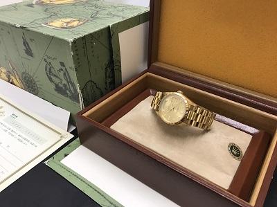 ロレックス買取 デイデイト買取 Ref.18238A 金無垢時計買取 下京区 西七条 西大路 七条店