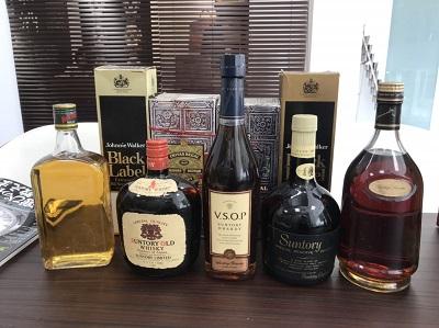 お酒買取 ブランデー ウイスキー 9本 お酒 高く売るなら MARUKA大宮店へ