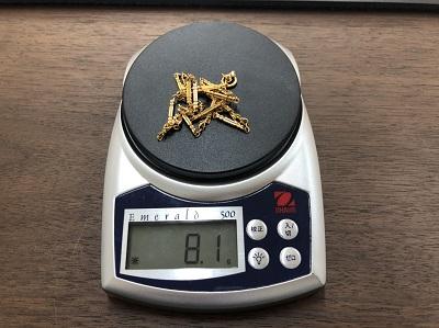 十八金の首飾買取 K18女性用ネックレス 金製品 8.1グラム 京都マルイ店 マルカ 大阪
