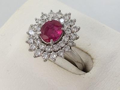 Pt900 ルビー 指輪買取 宝石 デザイン古いリング買取なら 神戸 三宮 元町のMARUKA
