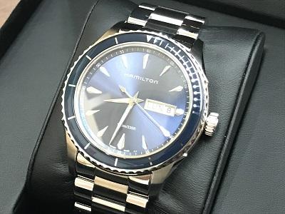 ハミルトン デイデイト買取 ブルー クォーツ 時計買取なら兵庫県 神戸市 加古川市のMARUKA