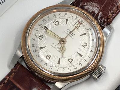 オリス買取 ポインターデイト 7551 裏スケ 時計買取はどんなメーカーもMARUKA心斎橋店