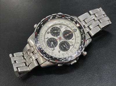 日本製時計買取 セイコー クロノグラフ 紳士用時計 ステンレス マルカ四条大宮店