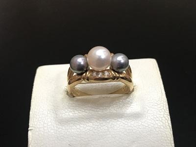 K18 パール 指輪買取 ダイヤ ジュエリー買取なら姫路市 加古川市 明石市のMARUKA
