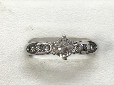 ダイヤモンド買取 プラチナ台 ダイヤモンド 0.351ct 0.15ct リング ダイヤモンド高く売るなら MARUKA大宮店へ