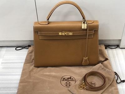 エルメス買取 ケリー32 アルデンヌ ナチュラル □A刻 ゴールド金具 エルメス高く売るなら MARUKA大宮店へ